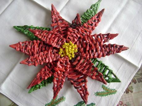 Цветы из газеты мастер класс